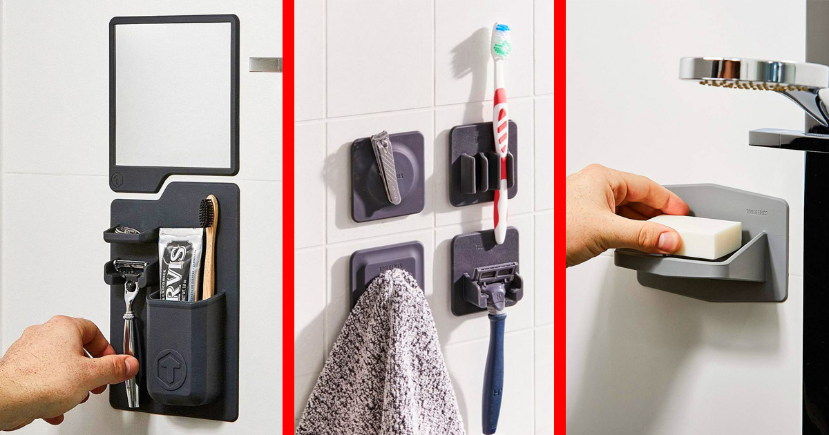 These Modular Silicone Wall Clings Will Organize Everything You