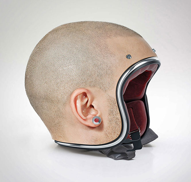 These Motorcycle Helmets Are Modeled After Human Heads