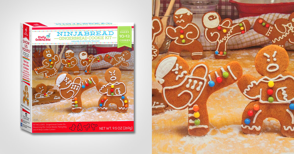 These Ninjabread Cookie Cutters Let You Make Fighting Ninja Gingerbread Men Cookies