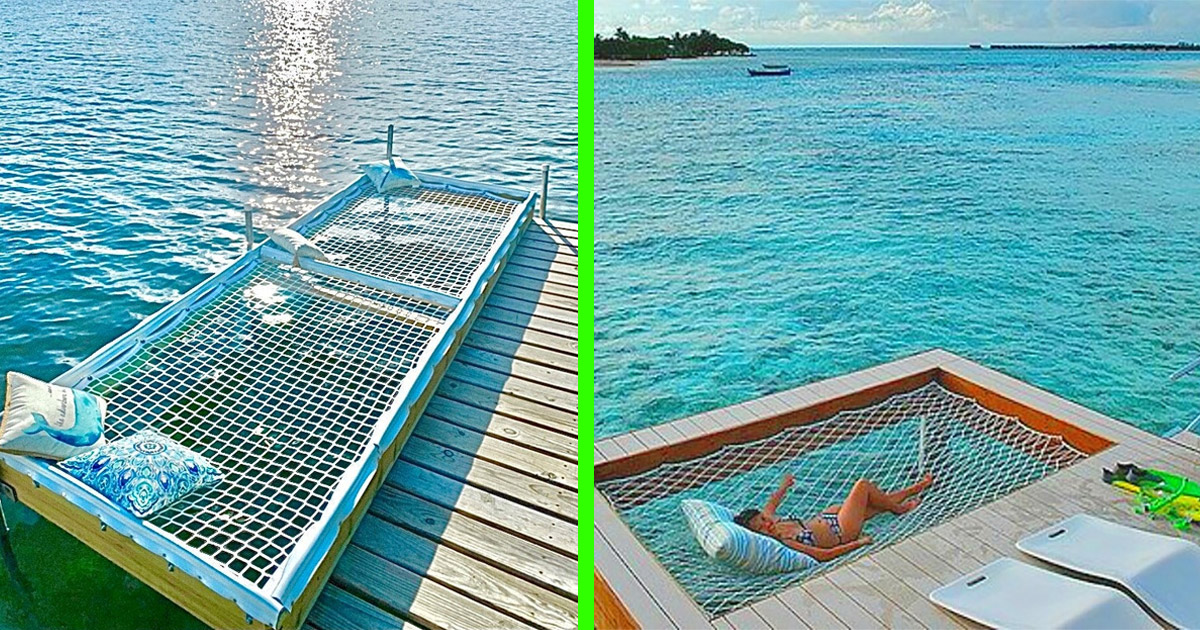 These Over-The-Water Dock Hammocks Are The Ultimate Place To Relax