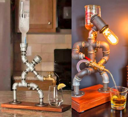These Pipe Man Liquor Dispensers Might Be The Coolest Way To Pour a Drink