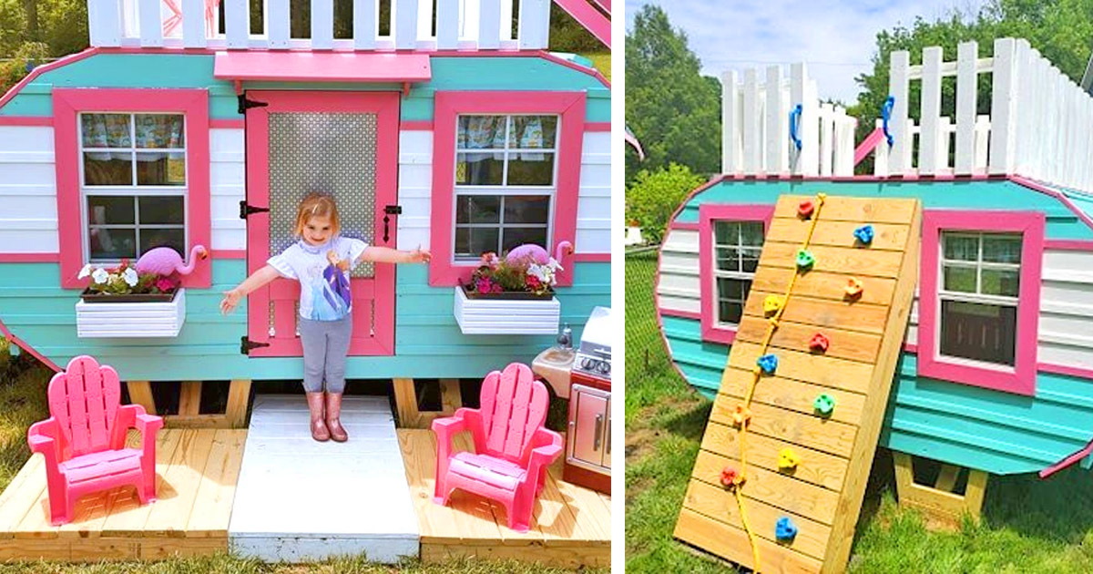 These Plans Help You Create The Cutest Little Play Camper For Your Kids