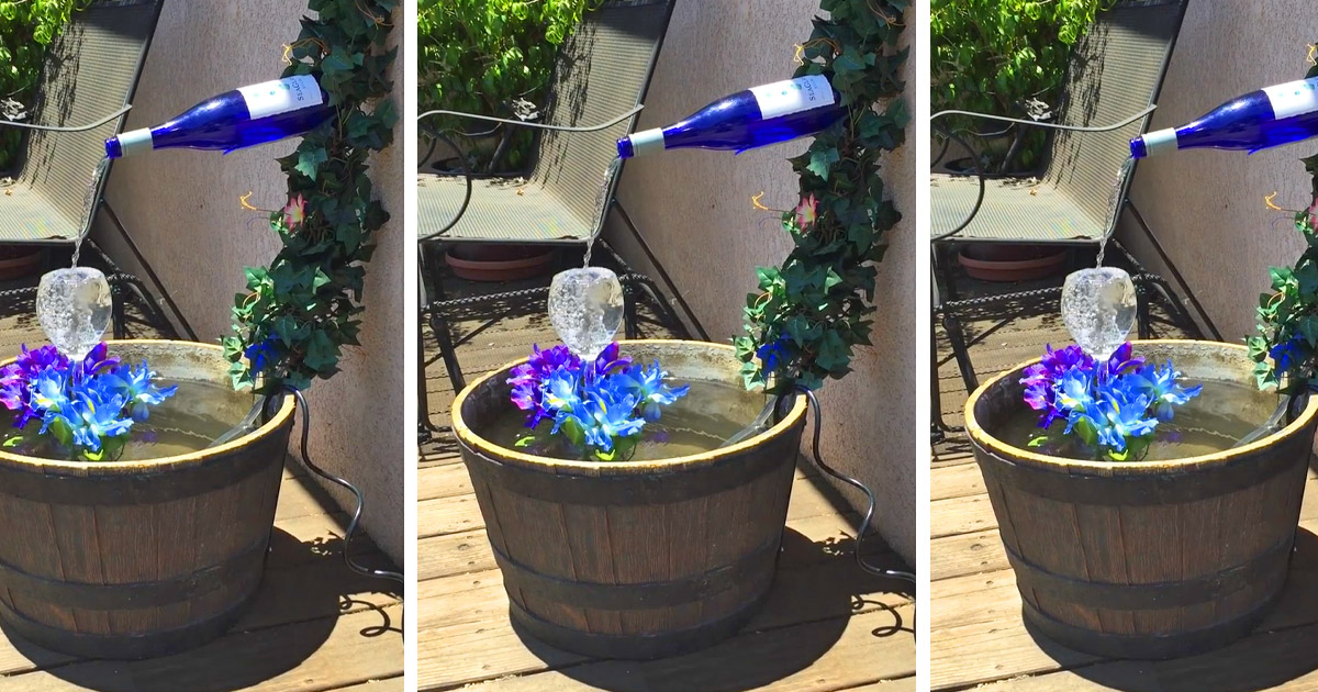 These Plans Let You Build Your Own Backyard Wine Bottle Fountain
