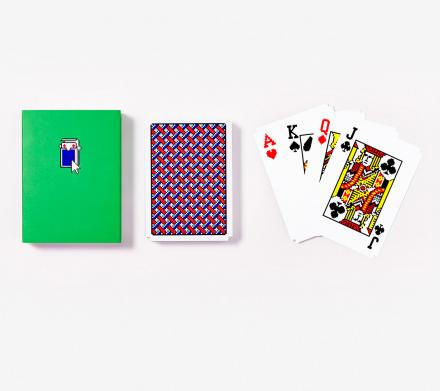 These Playing Cards Are Made To Look Like Solitaire From Windows 95