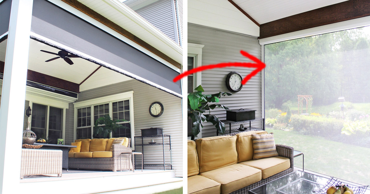 These Power Screens Automatically Screen-In Your Patio With The Push of a Button