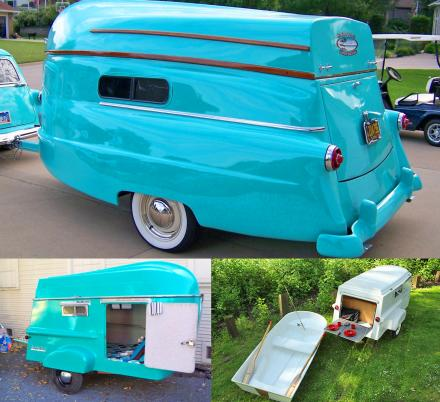 These Retro Campers Are Made With a Functioning Row Boat That Doubles as The Roof