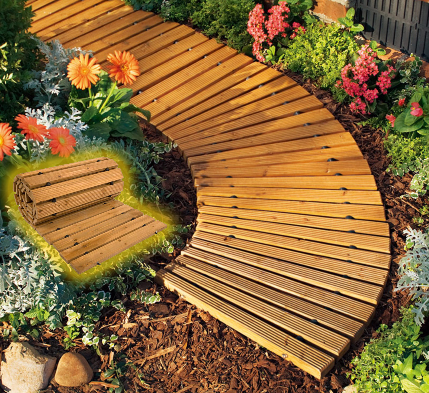 These Roll-Out Wooden Walkways Set Up In Seconds For a ...