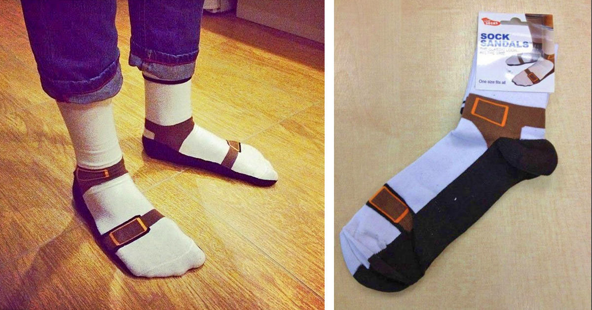 These Sandal Socks Make It Look Like You