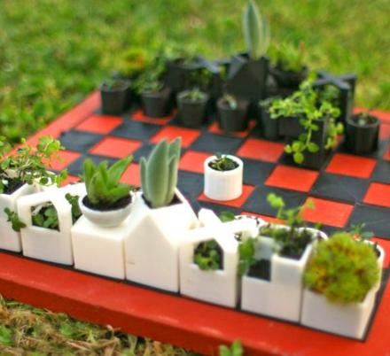 These Succulent Chess Pieces Might Be The Coolest Way To Play Chess Outdoors