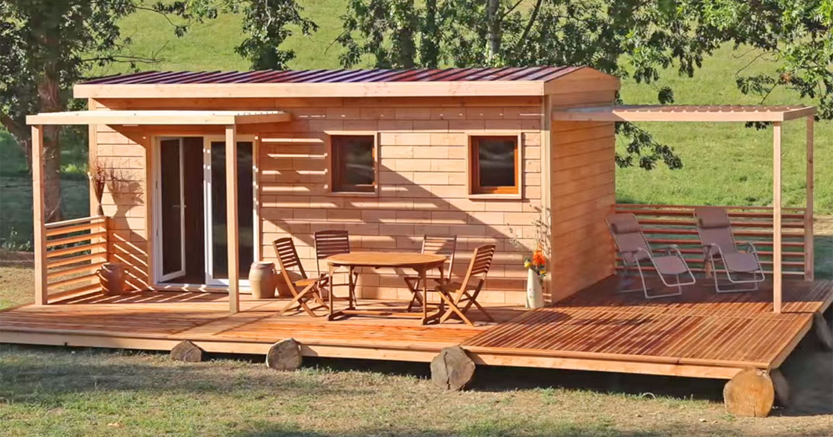 These Tiny Home Kits Let You Build A House Made Of Wood Bricks