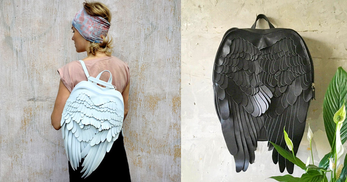 These Unique Leather Backpacks Make It Look Like You Have a Set Of Feathery Wings