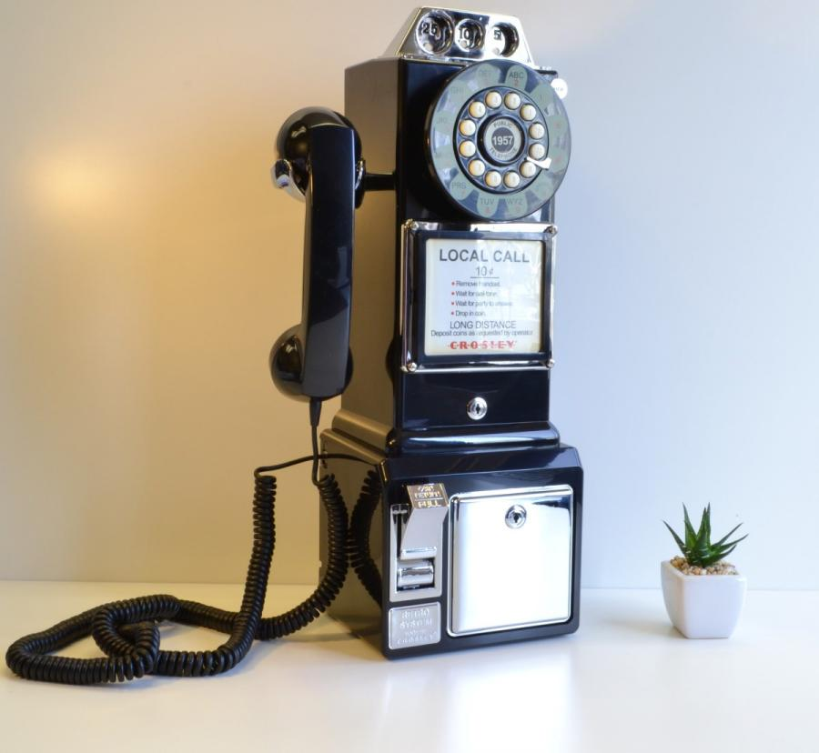 this 1950 39 s payphone actually works as your home phone. Black Bedroom Furniture Sets. Home Design Ideas