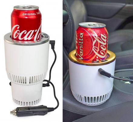 This 2-in-1 Car Cup-holder Keeps Your Beverages Either Cold or Hot