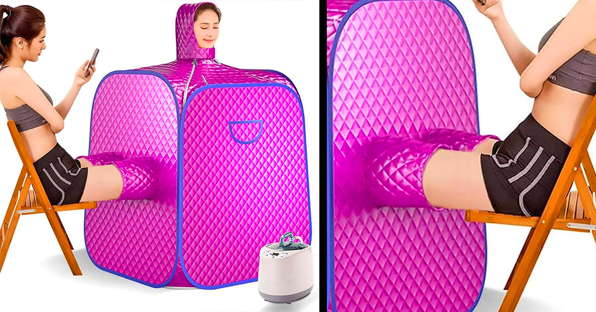 This 2-Person Portable Steam Sauna Lets a Second Person Stick Their Legs In
