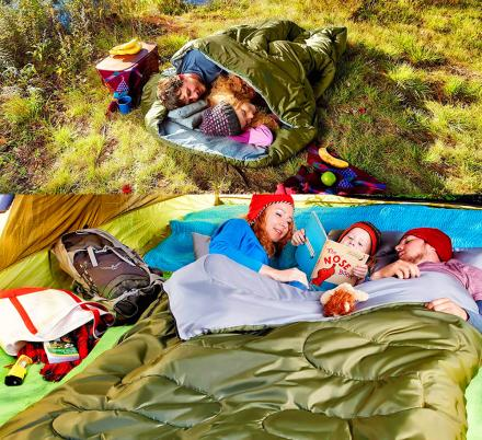 This 2-Person Sleeping Bag Lets You Stay Nice and Cozy While Camping