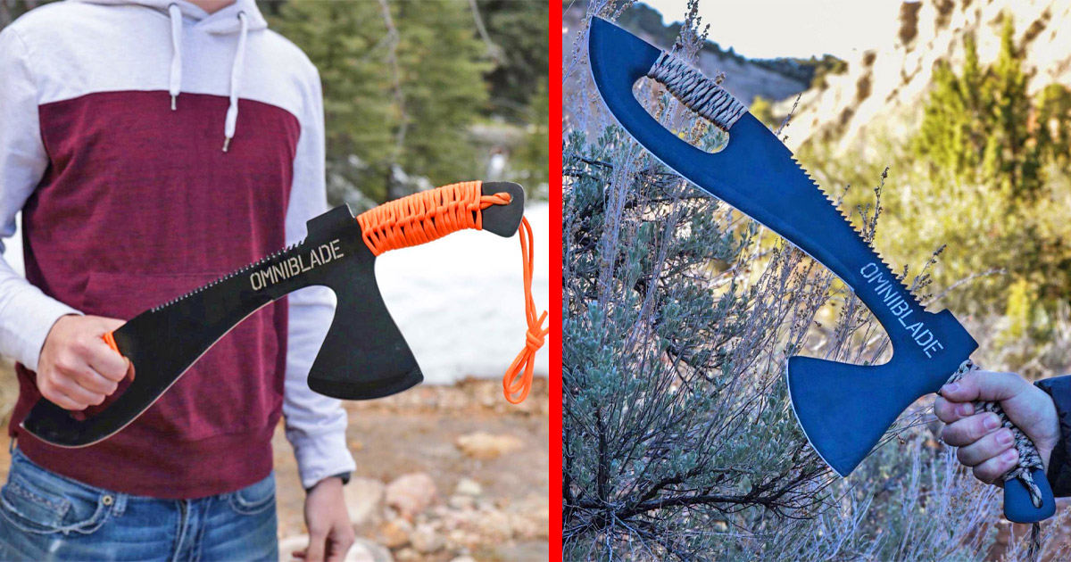 This 3-in-1 Survival Machete Includes a Knife, Tactical Tomahawk, and a Survival Saw