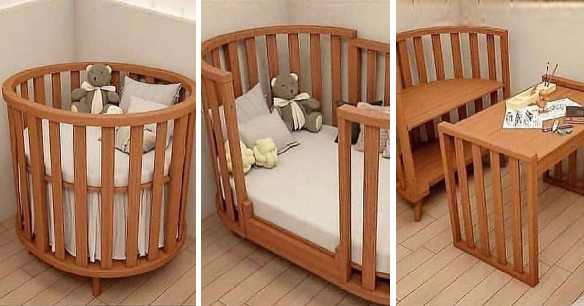 This 4-in-1 Convertible Crib, Bassinet, and Toddler Bed Grows With Your Baby