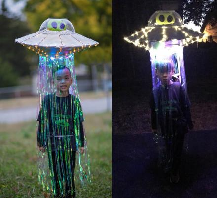 This Abducted By An Alien In UFO Costume Might Be The Greatest Halloween Idea Ever