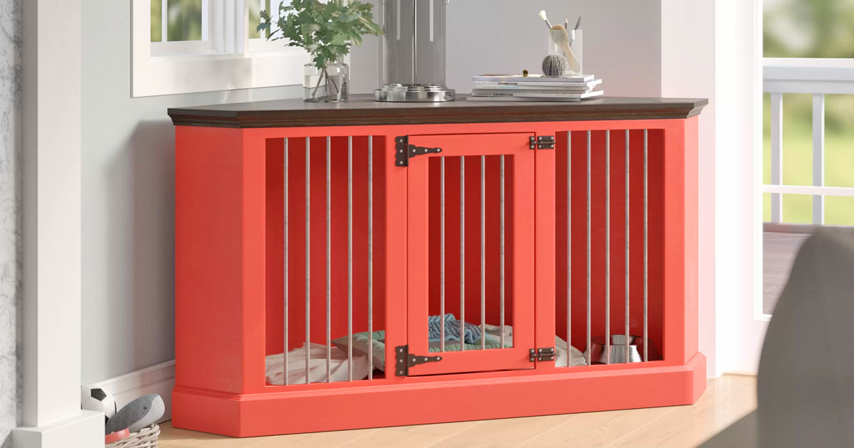 This Amazing Corner Credenza Also Doubles as a Pet Crate