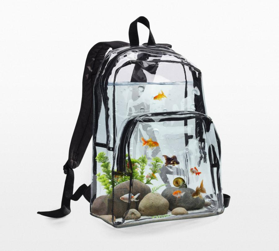 This aquarium backpack lets you haul around your fish for Travel fish tank