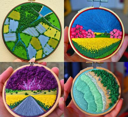 This Artist Creates Incredible Mini Embroidery Pieces That Look Like Landscape Paintings