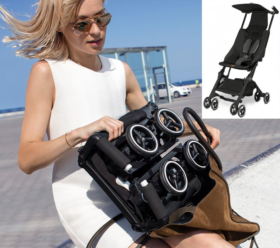 This Baby Stroller Folds Down To Fit Into A Backpack Or