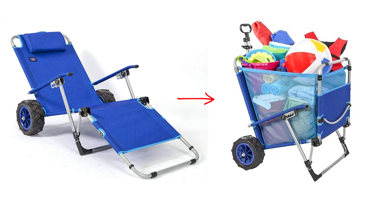 This 2-in-1 Beach Lounger Doubles as a Wagon For Easy Beach Trips