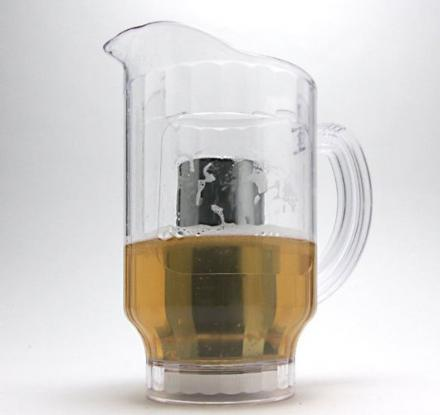 This Beer Pitcher Has An Ice Core To Keep Your Beer Cold