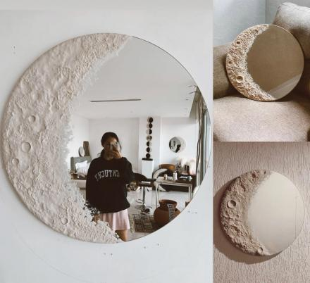 This Beautiful Lunar Mirror Is Made To Look Like a Crescent Moon