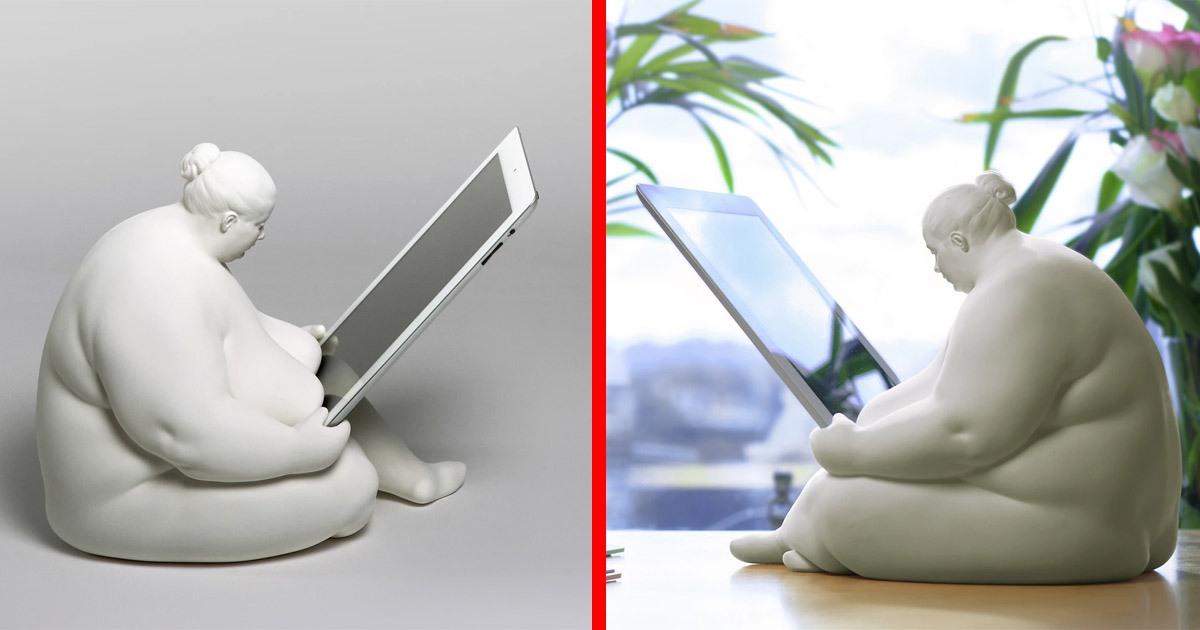This Big Naked Lady iPad Dock Might Be The Coolest Way To Charge Your Tablet