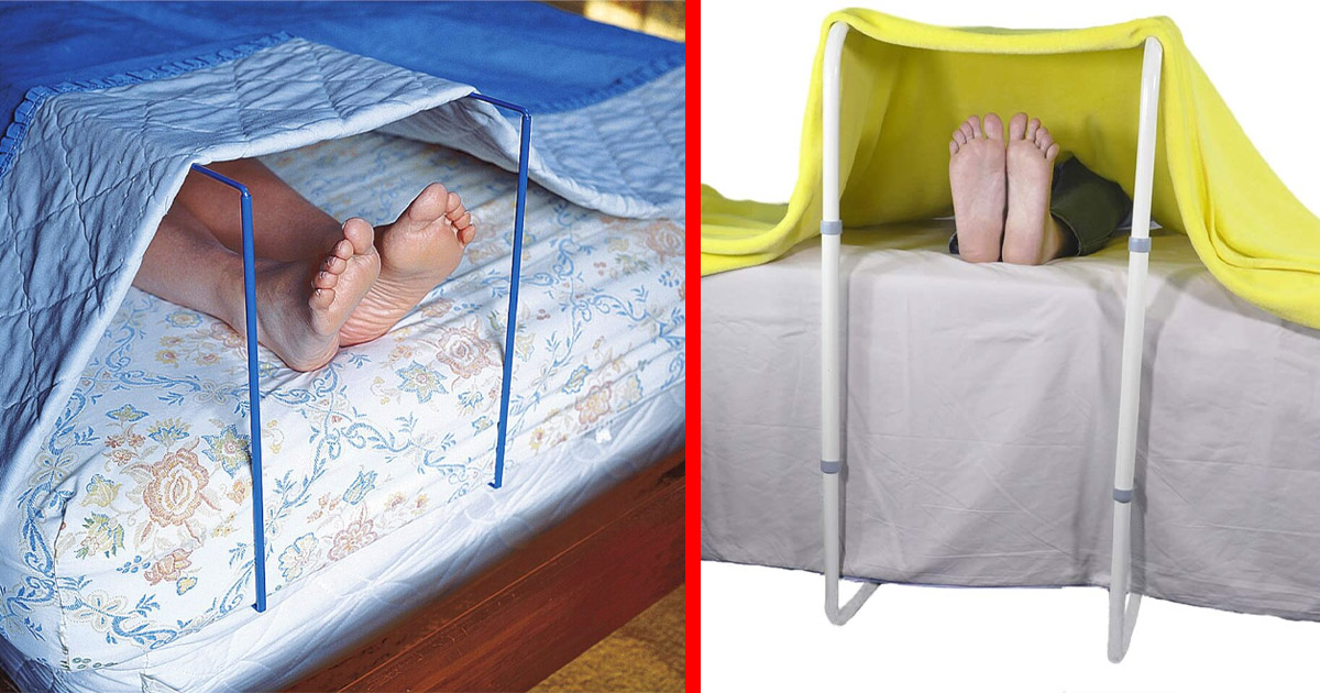 This Blanket Lift Bar Keeps Your Feet Cool While You Sleep