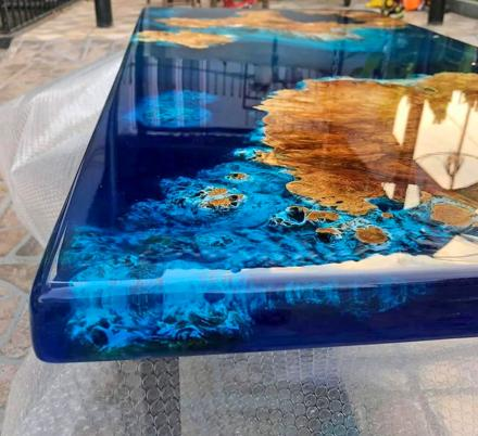 This Blue River Epoxy Table Is Absolutely Stunning