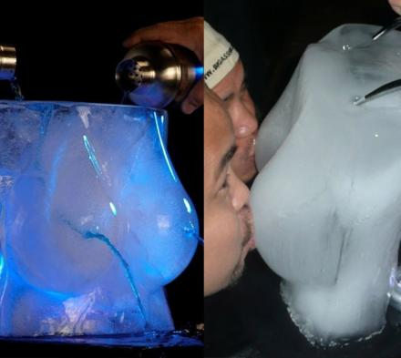 This Boobs Shaped Ice Mold Lets You Take Shooters Through The Hooters