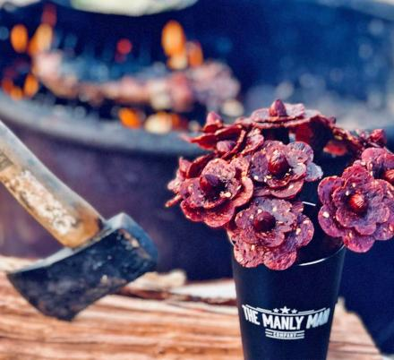 This Bouquet Of Flowers Is Actually Made Of Beef Jerky...Yum