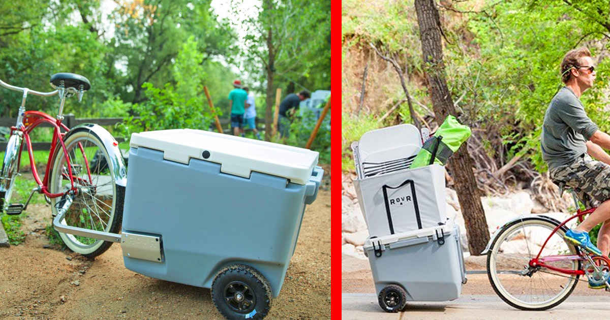 This Brilliant New Cooler Lets You Tow It Behind Your Bicycle To Easily Haul It Anywhere