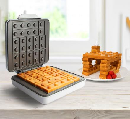 This Building Block Waffle Maker Lets You Play With Your Breakfast Like They're Legos