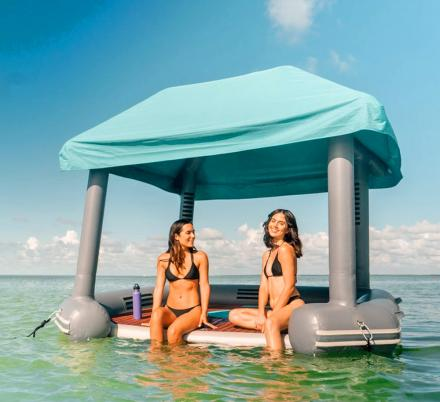 This Cabana Raft Lets You Relax In Luxury While On a Lake or In The Ocean