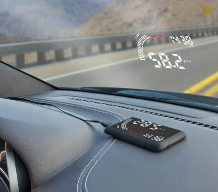 This Car Heads-Up-Display Reflects Your Speed Onto Your Windshield