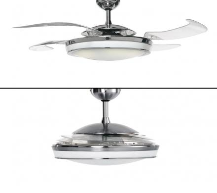 This Ceiling Fan Has Retractable Blades When Not In Use