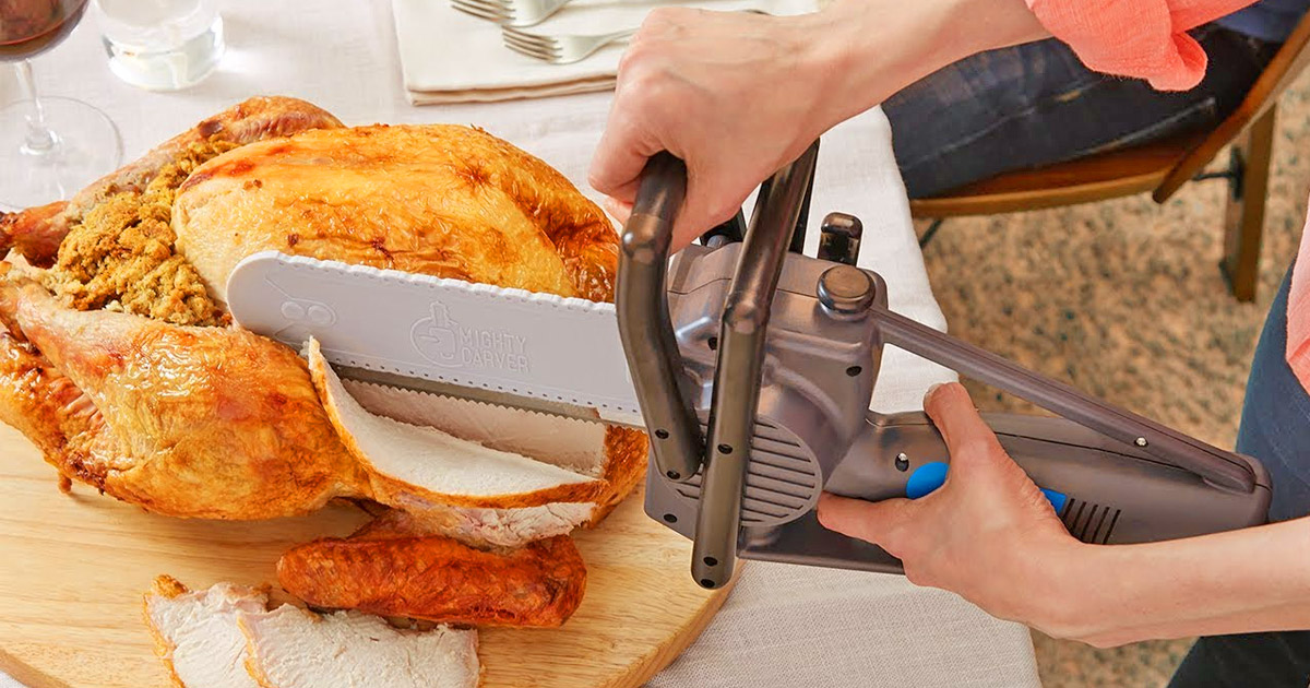 This Chainsaw Turkey Carving Knife Lets You Take Thanksgiving To The Next Level