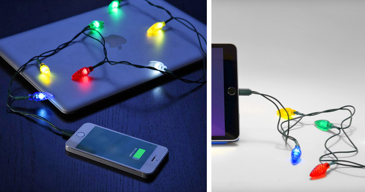 This Christmas Lights Charging Cable Is The Only Proper Way To Charge In December
