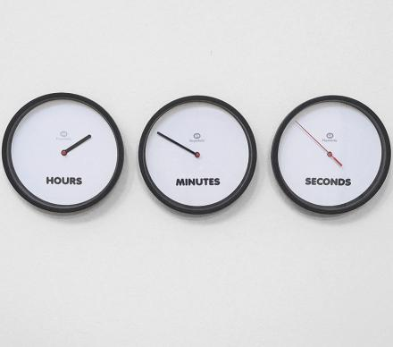 This Clock Uses 3 Separate Clocks To Tell The Time