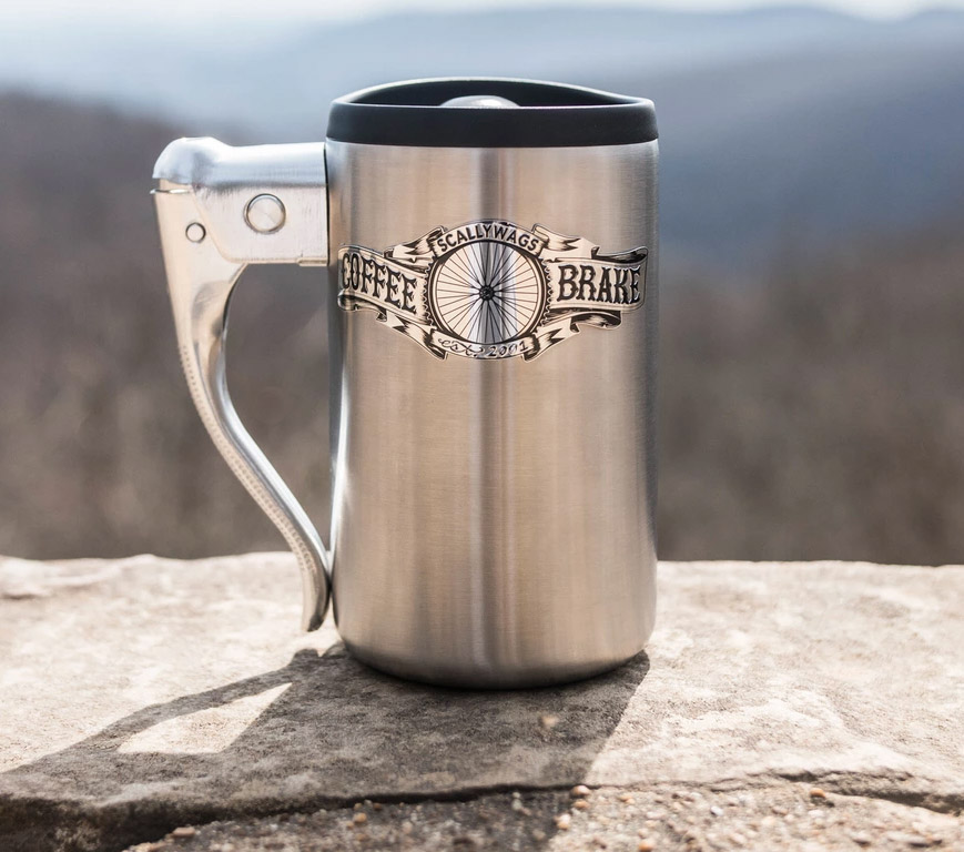 This Coffee Mug Is Made From A Bike Brake Handle