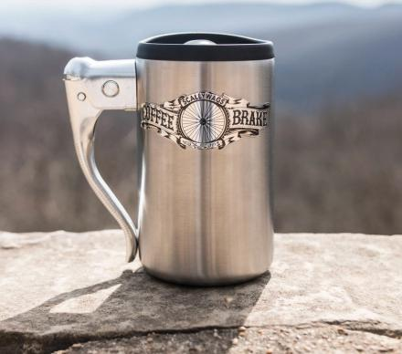 The Coffee Brake Mug Is Made From a Bicycle Brake Handle