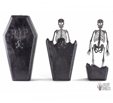 This Coffin Candle Melts To Reveal The Skeleton Inside