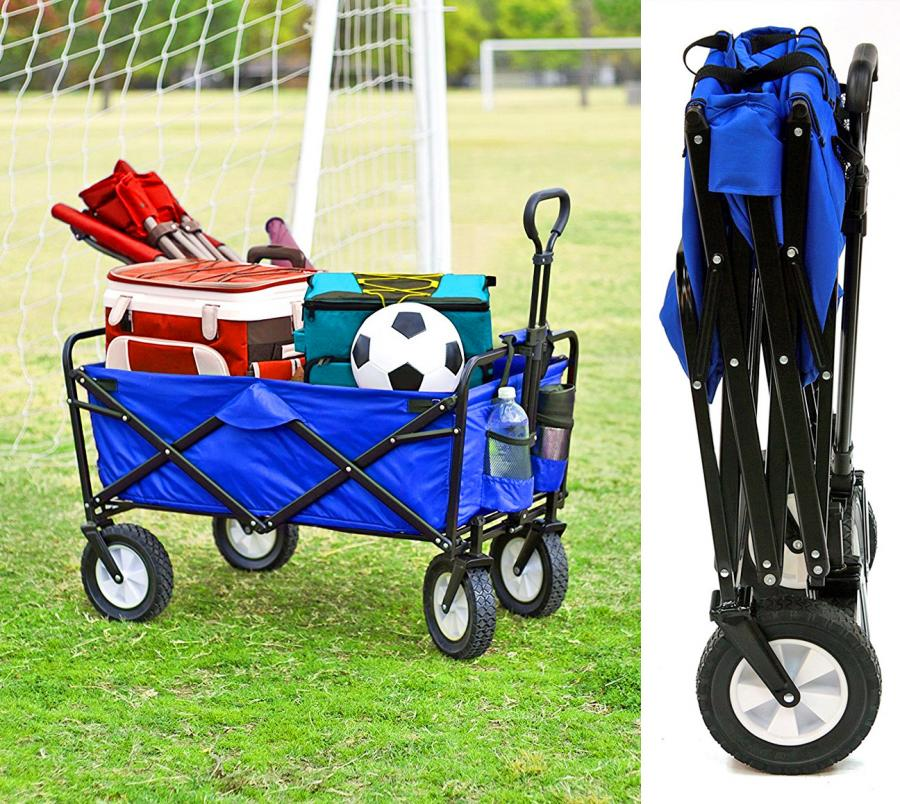 This Collapsible Wagon Folds Up To Just