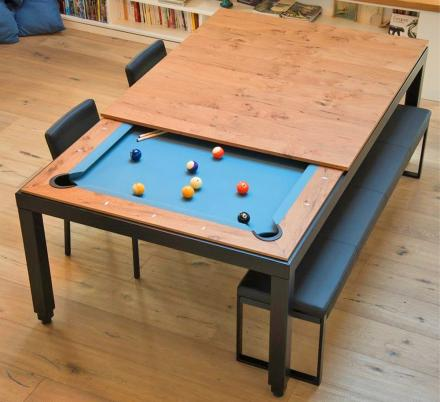 This Company Makes Elegant Dining Tables That Convert Into Pool Tables