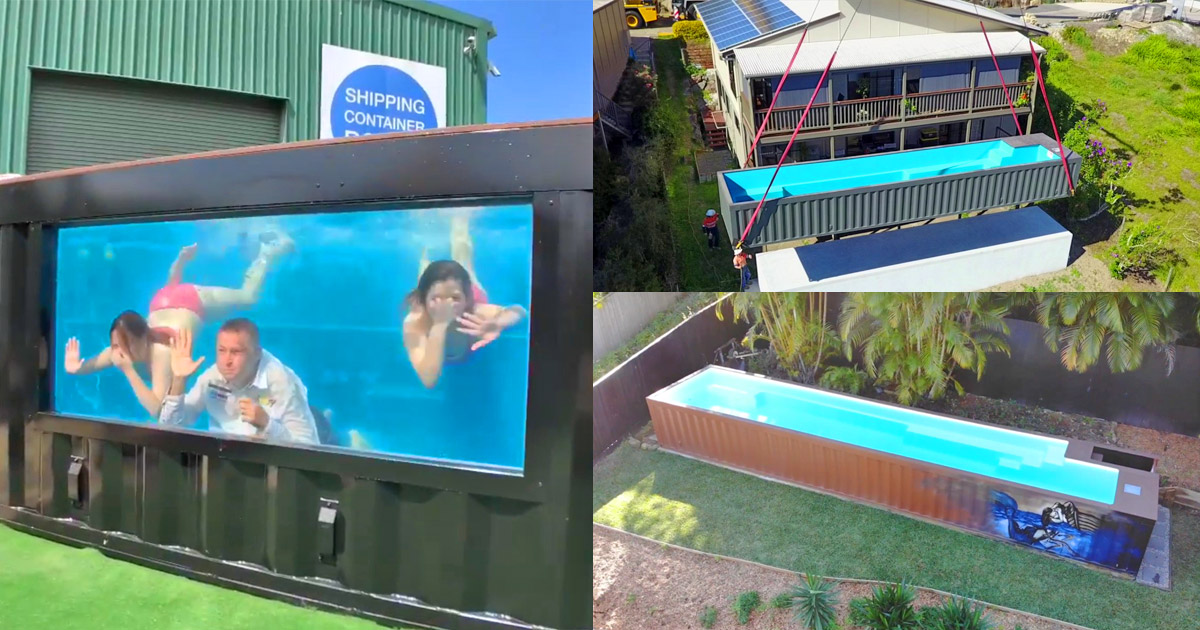 This Company Makes Pools Out Of Shipping Containers, and They Install In Less Than a Day
