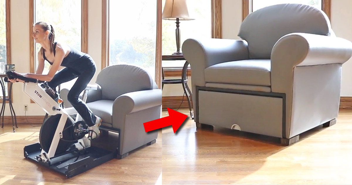 This Company Makes Stow-Away Fitness Equipment That Hides Inside Furniture When Not In Use