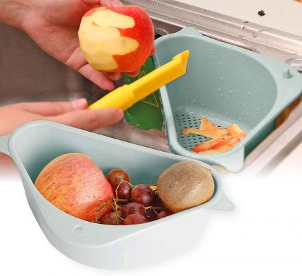 This Corner Sink Basket Will Make Cleaning And Cooking So Much Easier